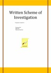 Written Scheme of Investigation