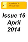 Newsletter 16 April 2014